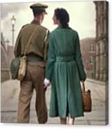 1940s Couple Canvas Print