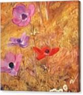 anemones 1876 Henry Roderick Newman Canvas Print