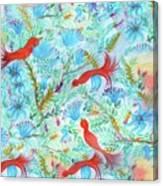 Birds Symphony Canvas Print