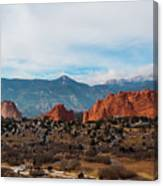 Garden Of The Gods And Pikes Peak Canvas Print