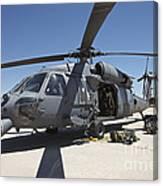 Hh-60g Pave Hawk With Pararescuemen Canvas Print