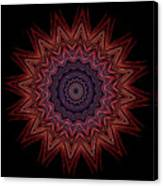 Kaleidoscope Image Created From Light Trails Canvas Print