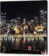 Pittsburgh Skyline At Night Canvas Print