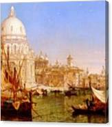 selous Henry Courtney A View Along The Grand Canal With Santa Maria Della Salute Henry Courtney Selous Canvas Print