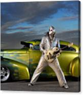 Silver Elvis Canvas Print