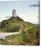 Stunning Summer Landscape Image Of Lighthouse On End Of Headland Canvas Print