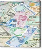 Travel Money - World Economy Canvas Print