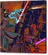 Video Star Wars Poster Canvas Print