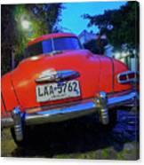 Vintage Car In Colonia Del Sacramento, Uruguay Canvas Print