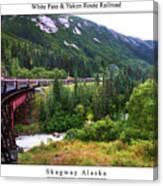 White Pass And Yukon Route Railroad Canvas Print