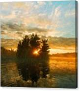 Nature Art Original Landscape Paintings Canvas Print