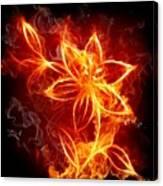112775 Flowers Fire Canvas Print
