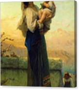 Mary And Child Canvas Print