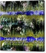 11362 Child Of The Universe With Lyrics By Barclay James Harvest Canvas Print