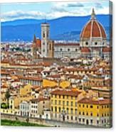 1167 Florence Italy Panorama Canvas Print