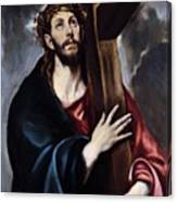 Christ Carrying The Cross Canvas Print