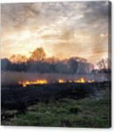 Fires Sunset Landscape Canvas Print