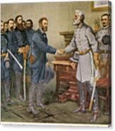 Lees Surrender 1865 Canvas Print