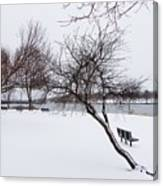 Obear Park In Winter Canvas Print