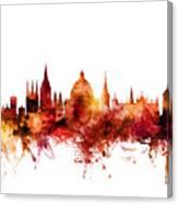 Oxford England Skyline Canvas Print