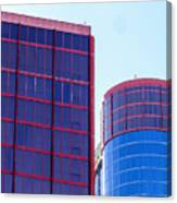 Rio Red And Blue Canvas Print
