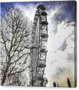 The London Eye Art Canvas Print