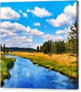 Painting Landscape Canvas Print