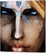 120941 The Elder Scrolls V Skyrim Wizard Blue Eyes Canvas Print