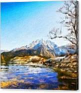 Nature Landscape Graphics Canvas Print