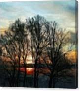Nature Art Original Landscape Paintings Canvas Print
