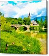 Nature Landscape Oil Painting For Sale Canvas Print