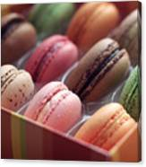 French Macaron Rainbow Canvas Print