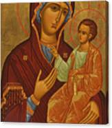 Madonna Enthroned Canvas Print