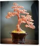 #129 Copper Wire Tree Sculpture Canvas Print