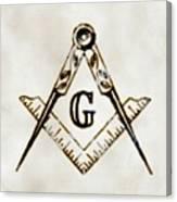 Ancient Freemasonic Symbolism By Pierre Blanchard Canvas Print