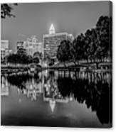Charlotte City Skyline Night Scene Canvas Print