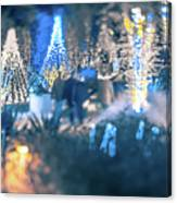 Christmas Light Bokeh At Daniel Stowe Gardens Belmont North Caro Canvas Print