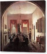Jlm-1820-henry Sargent-the Dinner Party 782x1024 Henry Sargent Canvas Print
