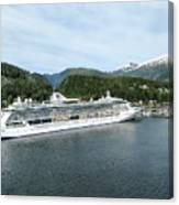 ketchikan alaska downtown of a northern USA town Canvas Print