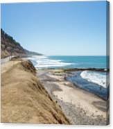 Pacific Ocean Big Sur Coatal Beaches And Landscapes Canvas Print