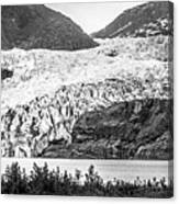 Panoramic View Of Mendenhall Glacier Juneau Alaska Canvas Print
