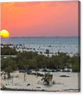 Red Sea Sunset Canvas Print