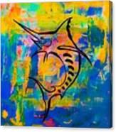 Salty Marlin  Canvas Print