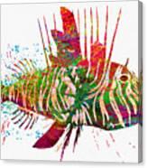 Underwater. Fish. Canvas Print