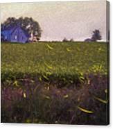 1300 - Fireflies Impression Version Canvas Print