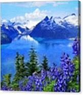 Nature Landscape Oil Painting On Canvas Canvas Print