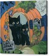 1313 Spooky Lane Canvas Print