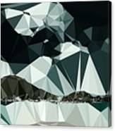 Abstract Art Landscape Of Triangles Canvas Print