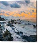 Nature Landscape Oil Painting On Canvas Canvas Print