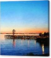 Nature Landscape Oil Painting For Sale Canvas Print
